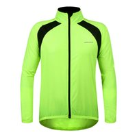 Wholesale WOSAWE Water Resistant Cycling Jacket Jersey Sportswear Long Sleeve Wind Coat Breathable Lightweight High Visibility Jacket BC242