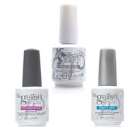 uv top polishes achat en gros de-Harmony Gelish Vernis à ongles STRUCTURE GEL Soak Off Clair Gel à ongles LED UV Foundation Top it off Vernis anti couleur noire