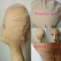 Wholesale Full Lace Wig Cap for Making Wigs Swiss French Lace with Adjustable straps elastic wig cap epacket