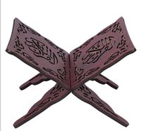 Wholesale Quran Book Stand Holder QuranHolder Folding Religious Prayer Book Holder Display Stand Wooden Hands Free Reading Stand