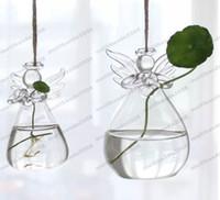 Стеклянные вазы Домашнее украшение вазы для цветов ангела украшение для свадьбы украшение для дня рождения декоративные вазы домашнее украшение вазо для цветов горшки MYY