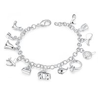 beauty personality - Fashion Personality psc Traditional Charm Accessories Lobster Channel Zircon Silver Plated Bracelet cm Unisex For City Beauty