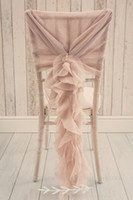 beautiful blush - Custom Made Blush Pink Ruffles Chair Covers Vintage Romantic Chair Sashes Beautiful Fashion Wedding Decorations