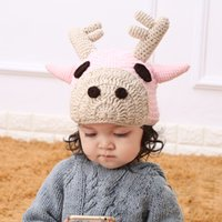 baby deer winter hat - Handmade knit fashion Deer baby hats
