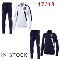 Wholesale 2017 Soccer Jacket Italy Long Pant White Track Suit Football Italia Giacca Chaqueta del futbol Italie Men Adults Tracksuit Equipment