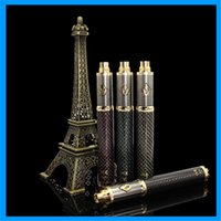 Wholesale CARBON SPINNER Electronics Cigarettes mah Batteries E cig gold plated decoration unmitigated with a colorful lamp remaining power