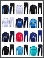 Wholesale New England Atletico de Madrid Tracksuits top quality France Soccer Training Jackets Portugal suits football Turkey Tracksuits