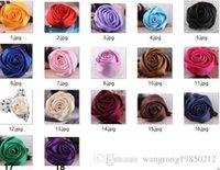 asian wedding photos - Fashion texture silky satin fabric rose a corsage pin photo show dance festival insignia on a cap