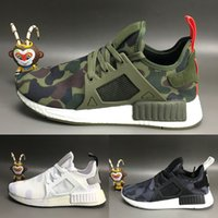 army shoes for kids - 2016 New Arrival NMD XR1 Boost Duck Camo Navy White Army Green for Men Women MND III Baby Kids Children Running Shoes Size