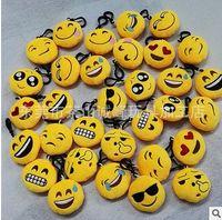 Wholesale HOT Styles Emoji Poop Smile Christmas QQ Expression Keychains Cute Cartoon POKE Plush Pendant Car Keychains cm