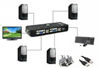 Wholesale KVM UA USB KVM Ports VGA SVGA Print Auto Switch Box Adapter Connects Printer VGA Splitter Computers Use monitor for PC Keyboard