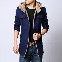 Wholesale New fashion parkas winter wool coat men manteau homme trench coat mens pea coat casaco masculino down jacket