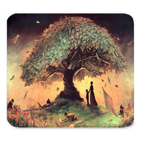 art mouse mats - Generic Customized Rubber Mousepad Gaming Mouse Pad Vintage Abtract Tree of Life Art Paintings Gaming Non slip Rubber Large Mousepad Mat