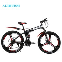 Wholesale ALTRUISM X9 Bicycles Speed Inches Bicycles Steel Folding Mountain Bike Double Disc Bicycle