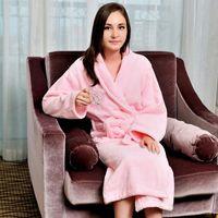Wholesale Cotton bathrobe sleepwear bathrobes for women men and girls super soft blanket towel robe thickening lovers robe plus size