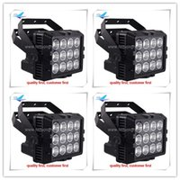 Wholesale 6xlot Outdoor light projector rgbw in1 x8w wireless Battery dmx ip65 Led Wall Washer