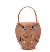 Wholesale Cheap Brown Bags - New Women's Owl handbag beach bag Cheap Animal Casual fashion shopping bag Retro party bag handbag