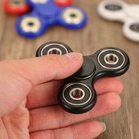 Wholesale 2017 Toy Plastic EDC Spinner Fingertips Spiral Fingers Gyro Torqbar Brass Ceramic Bearings Acrylic Hand Spinner finger spinner