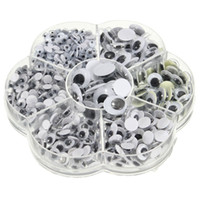 Wholesale Universal mm Total Mixed Googly Eyes Self adhesive DIY Scrapbooking for Teddy Bear Stuffed Toy Doll Parts