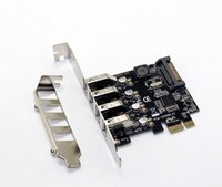 Wholesale 4 Port USB Gbps PCI Express X1 Card Adapter HUB Support Low Profile Bracket