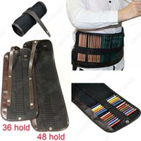 Wholesale Pc For Holds Pencil Case Bag Canvas Pencil Roll Up Storage Holds Art Supply
