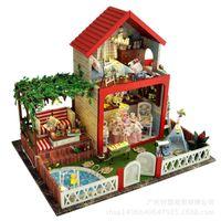 Wholesale Midsummer night dream house building model manually diy hut villa Christmas birthday music sound quality express free postage