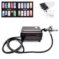 as pic Eye MPB16B Wholesale- Full Set Airbrush Kit Pen Body Paint Makeup Spray Gun for Nail Paint with 5 pcs Cleaning Brush,Air Compressor, Horse,2 Stencil