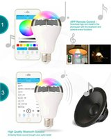 app led light - 2017 New Smart LED Bulb Bluetooth Speaker LED RGB Light E27 Base Wireless Music Player with APP Remote Control