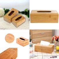 bamboo tissue holder - Natural Solid Bamboo Tissue Storage Box Cover Napkin Case Holder Home Desk Decoration