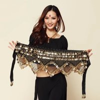 Wholesale 2017 Hot selling New Style coins belly dance waist chain hip scarf bellydance belt for stage show