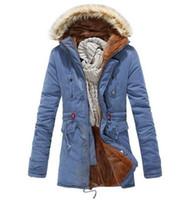 Wholesale New Men s Cotton coat fleece Trench Parka outwear Winter Slim wool Warm Jacket