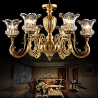 Wholesale Coppe chandeliers high class elegant noble American European style chandelier lighting living room dining room bedroom hotel hall