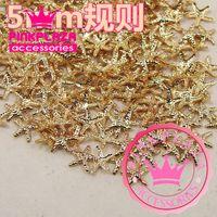 Wholesale MM D Regular Starfish Shape Gold Silver Color Metallic Nail Art DIY Decorations