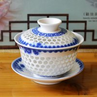 Wholesale Tea Cup Hollow Style With Painting Four Color For Choice Good For Green Tea And Coffee