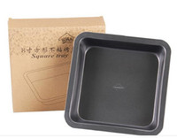Wholesale 3pcs cm Square Non Stick Baking Mould cm high Cake Carbon Steel Metal cookie Pan or Oven Dish Pie Pan