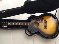 al por mayor guitarra de arce jumbo-Venta al por mayor-2015 New + Factory + Chibson J200 guitarra acústica cuerpo de arce J200 guitarra acústica eléctrica solo cutaway Jumbo guitarra acústica