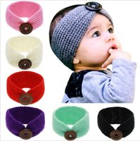 anniversary cotton gifts - The New Fashion Baby Knit Rabbit Ear Headband For Childern s buttons Cotton Headband Winter Hair Accessories KT066