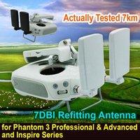 achat en gros de gagner antenne booster de signal-DIY Signal Booster Haut gain 7DBI Repose antenne pour DJI Inspire 1 / Phantom 3 Professional Advanced Livraison gratuite