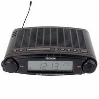 ats alarm - Tecsun Radio MP DSP FM Stereo USB MP3 Player Desktop Clock ATS Alarm Black FM Portable Radio Receiver Y4137A