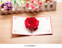 Wholesale istmas birthday greeting card Korean creative D stereo card hand small card write greeting message New Year