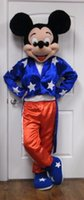 Adulto clasificó el equipo patriótico del traje / de la mascota de Mickey Mouse con la cabeza grande * READ *