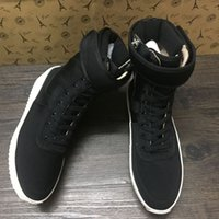 Wholesale 2016 Christmas Fear Of God High Shoe FOG Black And White Military Boots High Street Boots