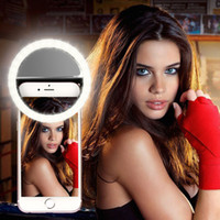 battery powered led video lights - LED Selfie Light Clip on Circle Light Battery Powered Ring Light Video Light for Most IOS Android BlackBerry Windows Smartphones