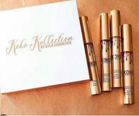 Wholesale New Kylie Jenner Lip Kit Lip gloss KOKO Kollection Kylie Cosmetics kollaboration Gold Metal Matte lipstick make up Set Epacket
