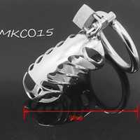 Wholesale Cock Lock Stainless Steel Lockable Penis Cage Penis Cock Ring Sleeve Male Chastity Device Cage Belt Cockring Sex Toys For Men MKC015