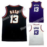 Wholesale High quality Cheap Men s Steve Nash Jersey Throwback Mesh Charles Barkley jersey stitched Embroidered Logo