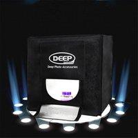 40 x 40CM PROFONDEUR 4 LED Photo Photographie Studio Tente d'éclairage vidéo Professional Portable LED Softbox Set Boîte