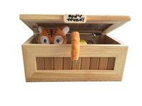 achat en gros de gadgets gifts-Boîte inutile Cartoon Cute Tiger Ne me touche pas Creative Trick Jouets en bois Fun Pratique Jokes Funny Toys Gadgets Cadeaux