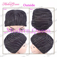 Wholesale Crochet Braids Hair Wig Cap Crochet Wig Caps Easy Sew In Cornrows Cap Elastic Crochet Braids Glueless Wig Braided Caps For Making Wigs