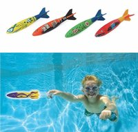 Wholesale 4pcs set Swimming Toypedo Bandits Diving Toys Games Sport Outdoor Play Pools Water Fun Pool Toys Dive Rings